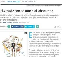El arca de noe se mudo al laboratorio_La Nacion.JPG