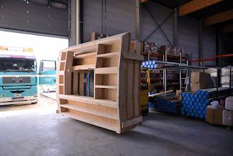 Photo: © ervanofoto 24-10-2012 Dat zijn dan enkele van de elementen van het houtskelet.