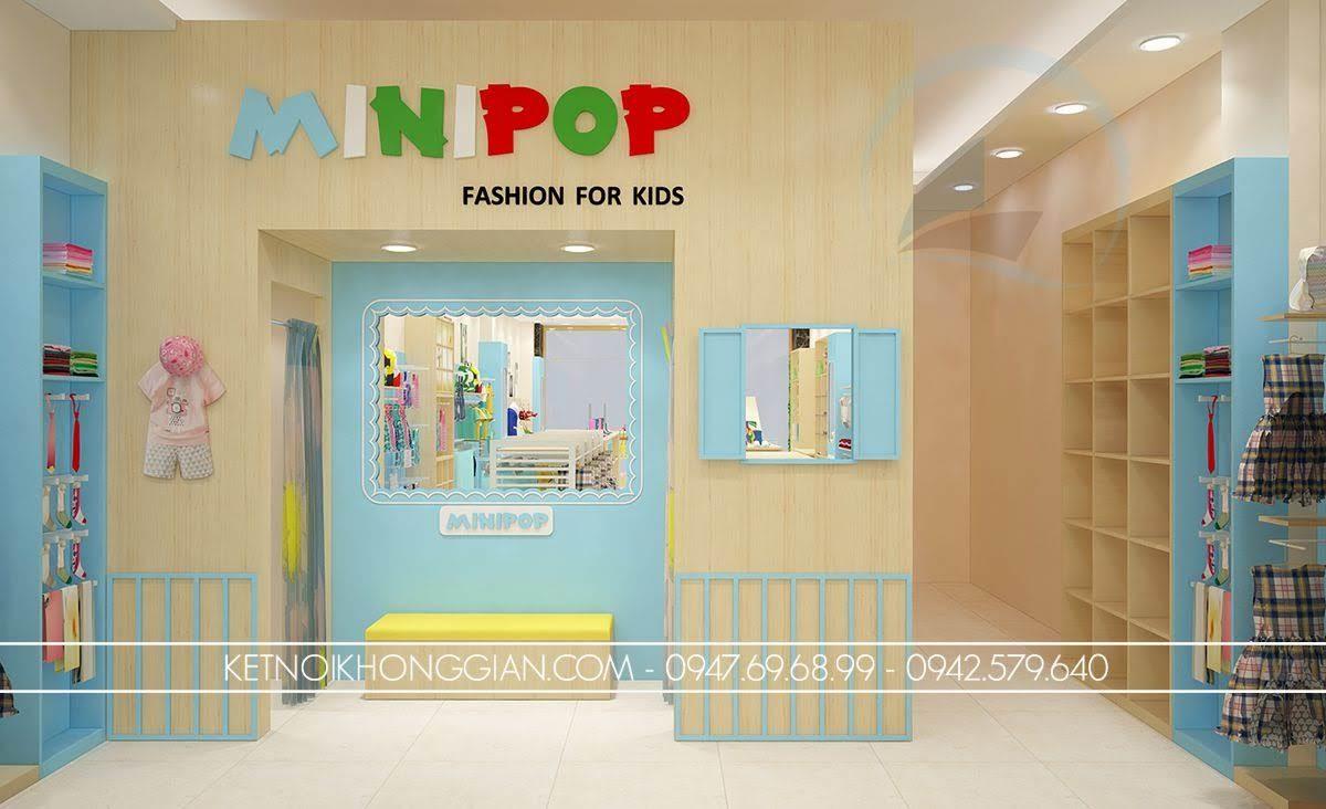 thiết kế shop thời trang trẻ em đẳng cấp