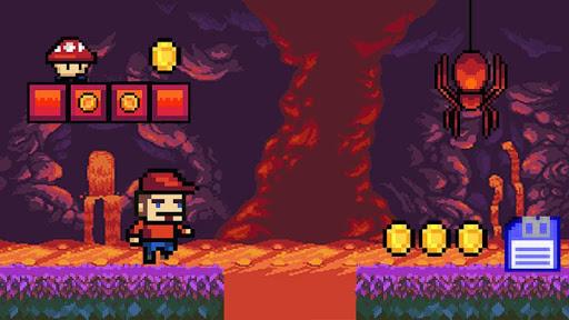 Super arcade. Pixel games adventure. Retro games ss1