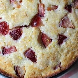 Pretty Plum Ricotta Cake