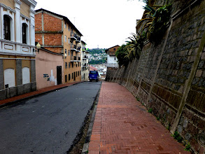 Photo: Street in Quito, near Cathedral