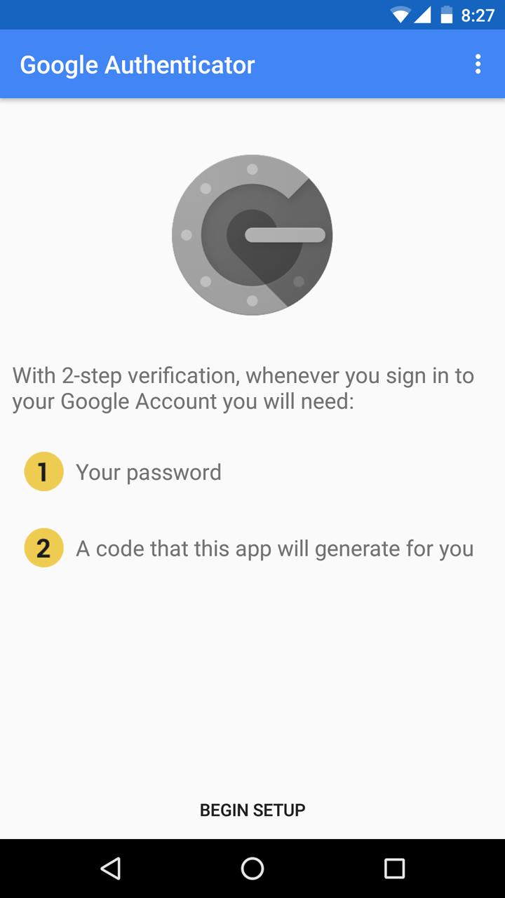 Google Authenticator screenshot #1