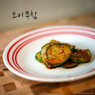 Oi Muchim // A Korean Cucumber Side Dish.