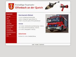 Photo: Referenz Webdesign: Freiwillige Feuerwehr Offenbach / Qu. (HTML5/CSS3, WordPress)
