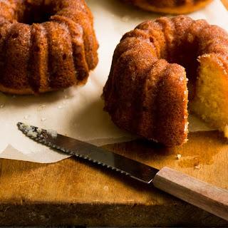 Honey-Meyer Lemon Pound Cake with Chamomile Glaze