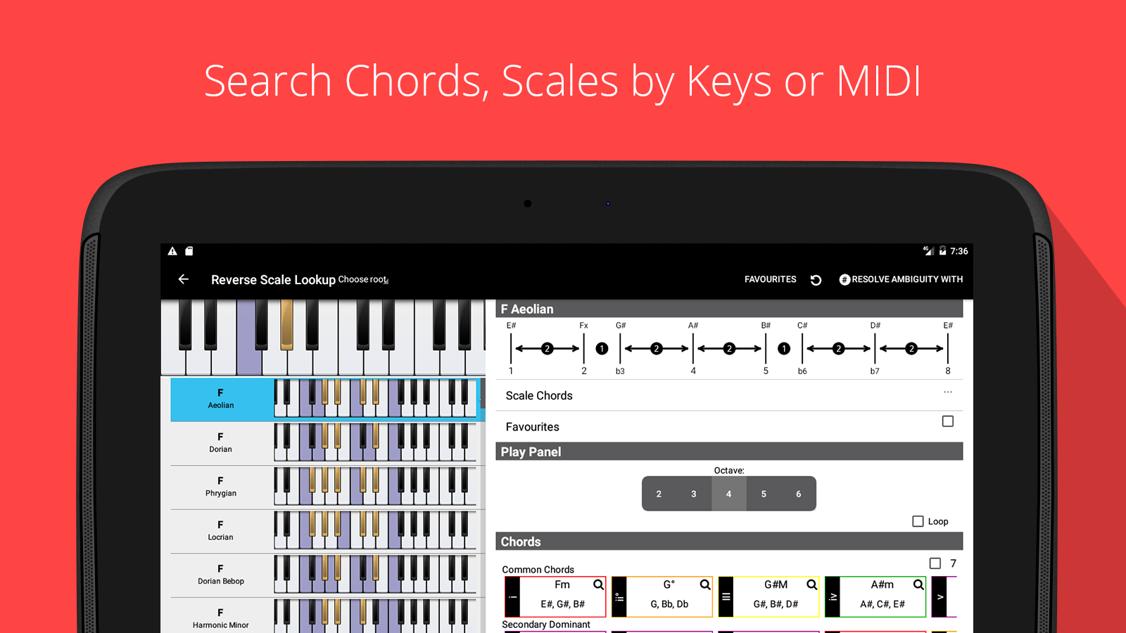 Piano chord scale progression companion android apps on google piano chord scale progression companion screenshot hexwebz Images