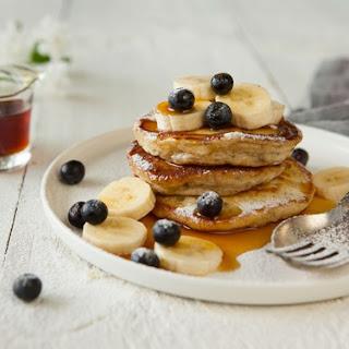Banana And Vanilla Chia Pancakes.