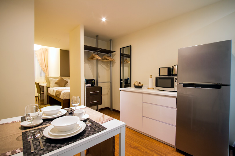 Luxury studio apartment at Smith Street Residence, Outram Park