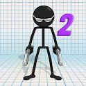 Gun Fu: Stickman 2 - Fun Shooting Offline Action icon