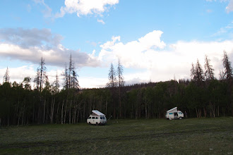 Photo: At the S end of the road, against the La Garita Mtns, we find a little track and a nice secluded camp spot.