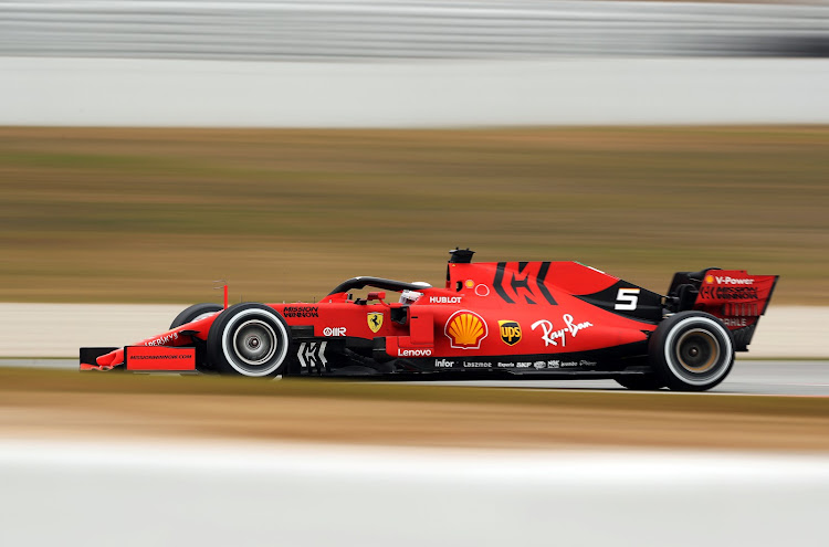 Ferrari's Sebastian Vettel during testing in Barcelona last week. Picture: REUTERS