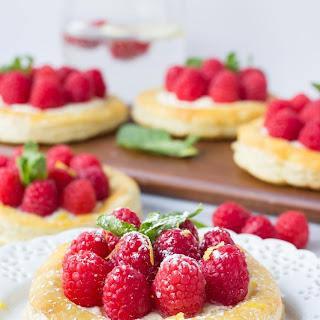 Raspberry Lemon Mascarpone Pastries.