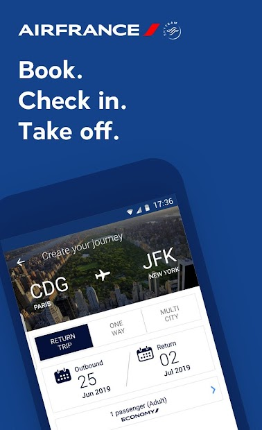 Air France - Airline tickets Android App Screenshot