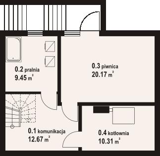 Świdnica mała dw 29 - Rzut piwnicy