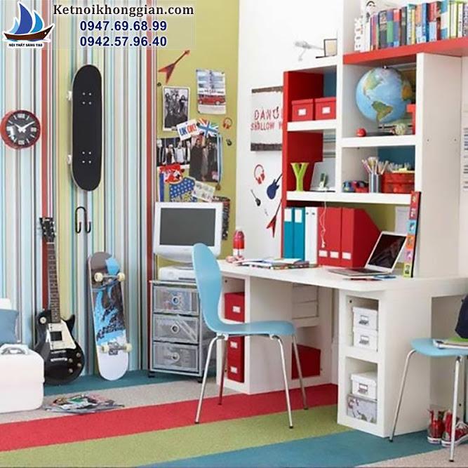 thiết kế phòng ngủ bé trai sáng tạo