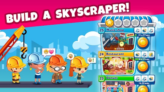 Pocket Tower: Building Game & Megapolis Kings Apk Download For Android and Iphone 6
