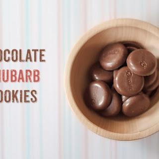 Chocolate Rhubarb Oatmeal Cookies