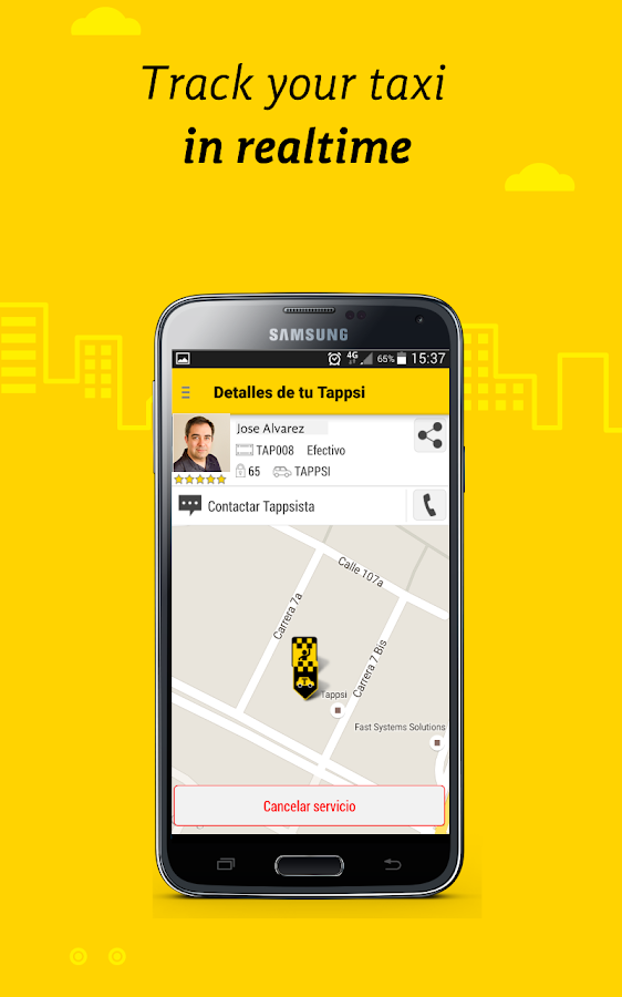 Tappsi- Colombia's Safest Taxi- screenshot