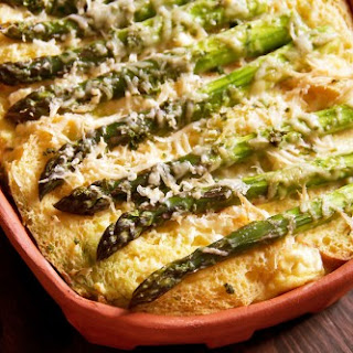 Asparagus and Chive Savory Bread Pudding