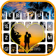 Lovers at Sunset Beach Keyboard Theme APK