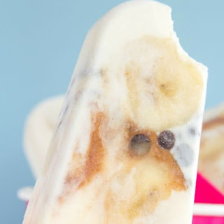 Banana, Peanut Butter and Chocolate Chip Cheesecake Frozen Yogurt Pops