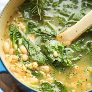 Spinach and White Bean Soup.