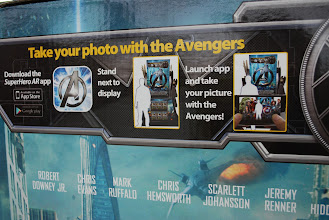 Photo: How cool is this! With the SuperHero AR app you can take a picture with the Avengers! AWESOME