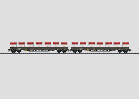 "47029 Godsvagnsset  typ Rens ""AAE Cargo AG"" med 2 st flakvagnar"