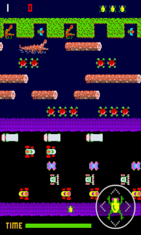 Froggy (Frogger clone)- screenshot