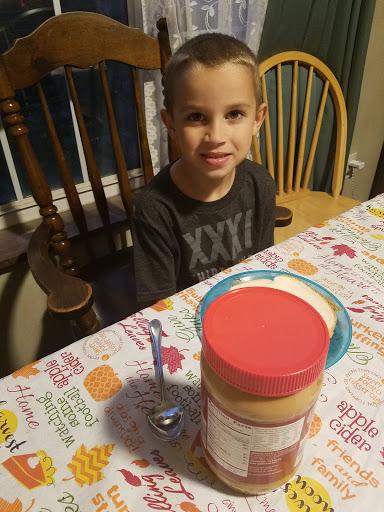 peanut butter sandwich kid