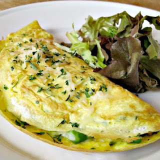 Chicken and Asparagus Omelette.