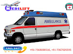 Avail Medilift Ambulance Service in Delhi with Bed-to-Bed Facilities