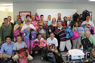 Photo: ICs at our Cambridge office organized a school supply drive and collected enough items to send 57 kids back to school with everything they need.
