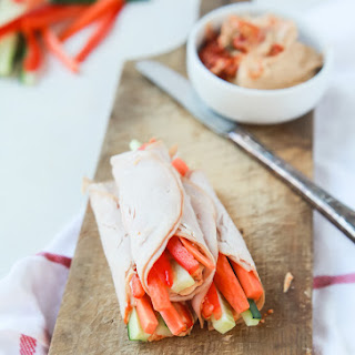 Gluten Free Veggie Turkey Rollups {High Protein}