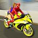 スーパーヒーローバイクタクシーシミュレータ:自転車運転ゲーム