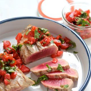 Grilled Tuna Steaks with Tabasco Tomato Salsa