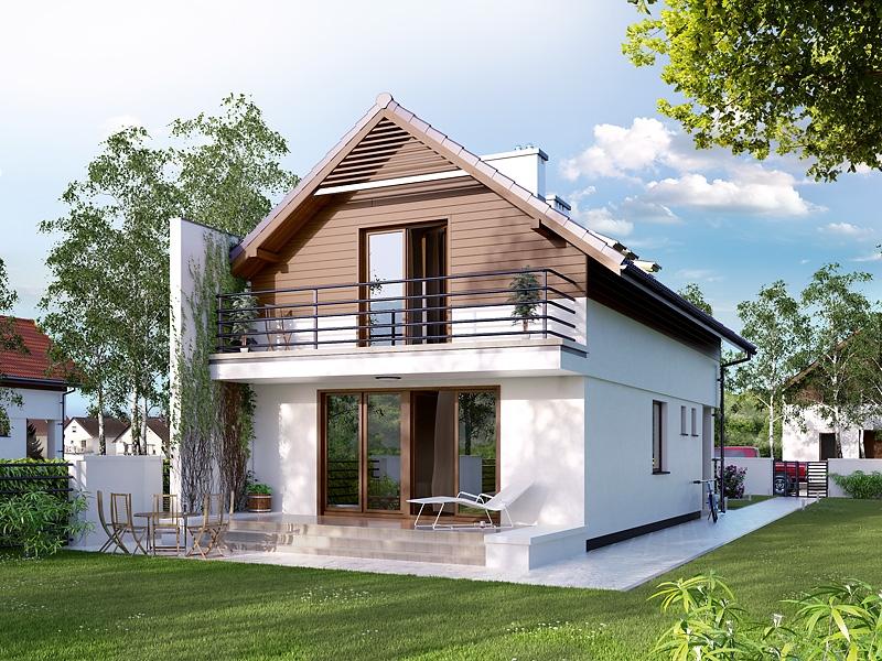 Projekt domu koliber 4 ce tex 344 for Moderne semi bungalow bouwen