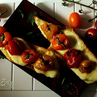 Squashed Tomatoes Baguette.