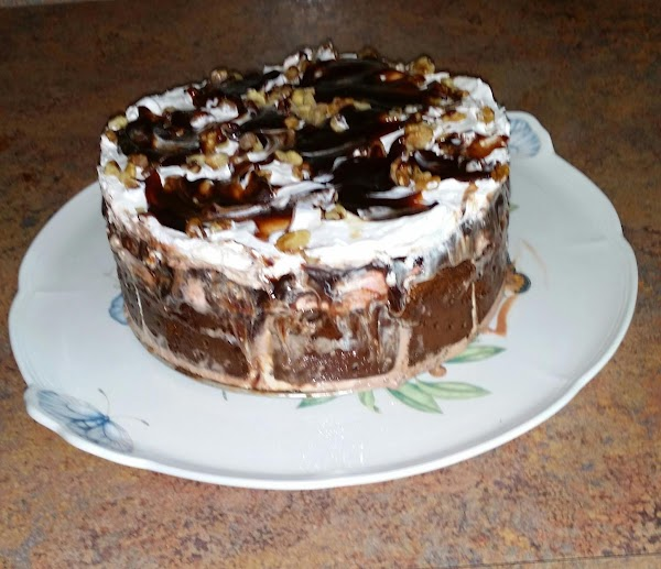 Banana Split Ice Cream Cake Recipe
