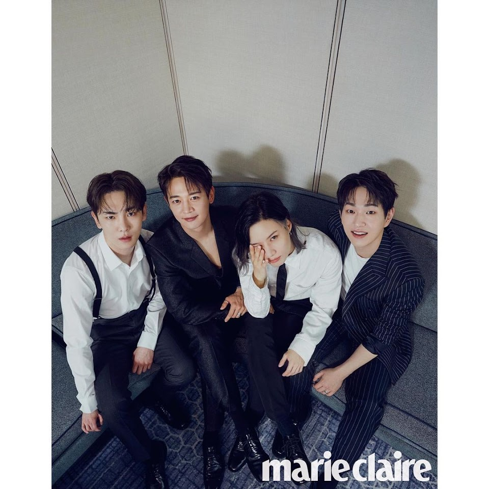 shinee marie claire group photo