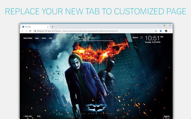 Joker Vs Batman Hd Wallpaper New Tab Chrome Web Store