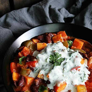 Colorful Veggie Chili with Sweet Potatoes.