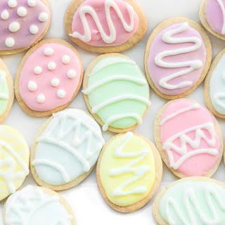 Easter Egg Sugar Cookies.