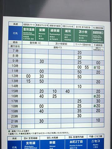 道南バス「勇舞空港線」 新千歳空港国際線ターミナル66番のりば 時刻表