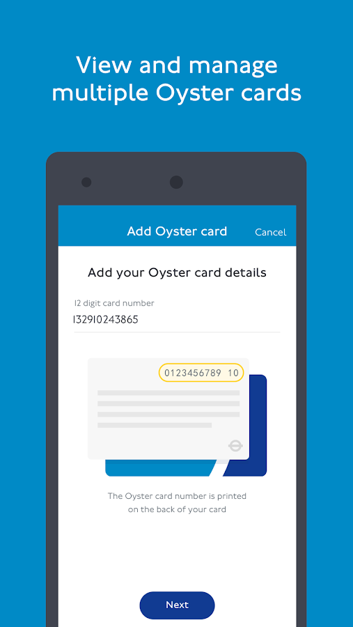 TfL Oyster- screenshot