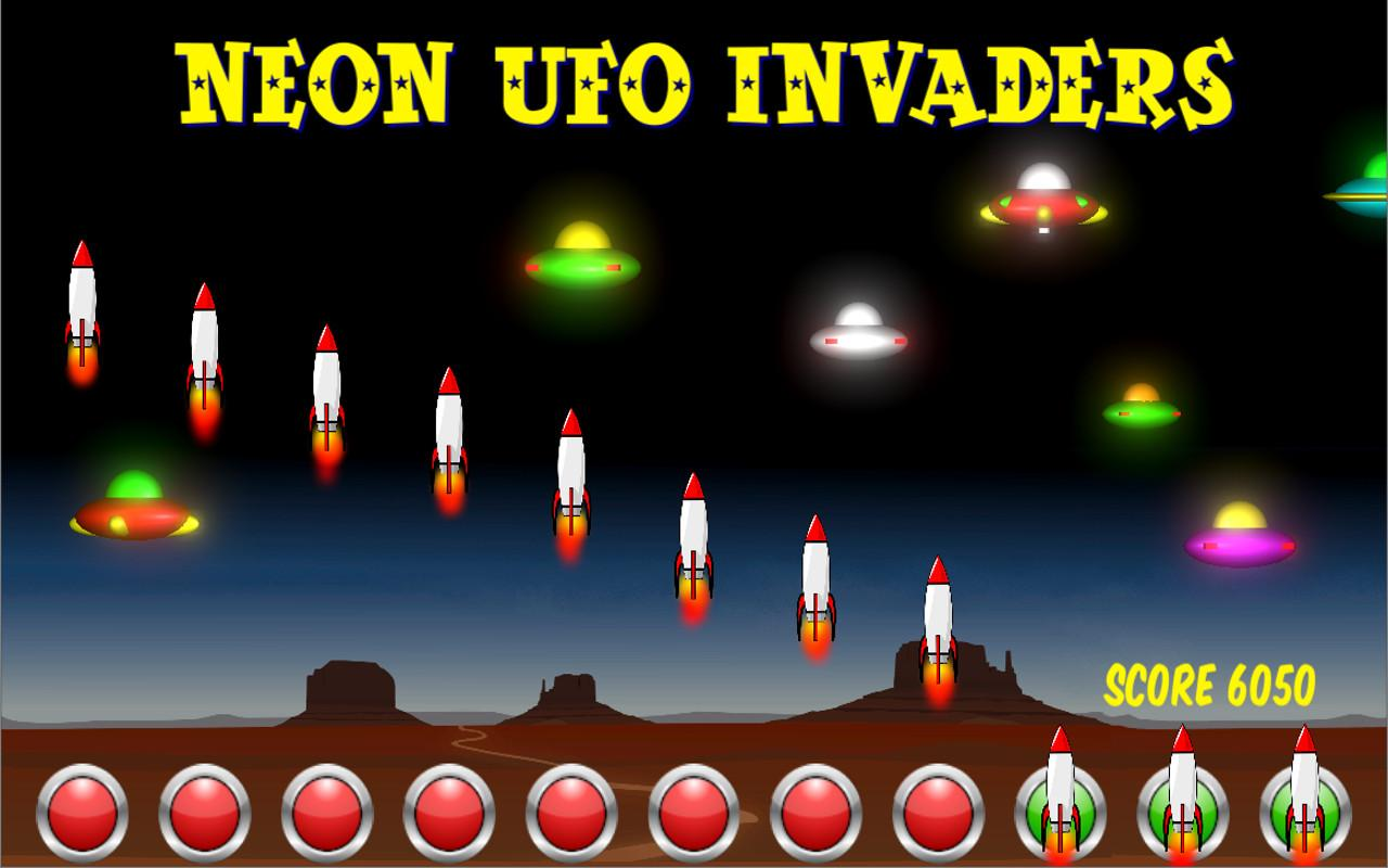 Neon UFO Invaders from Space- screenshot