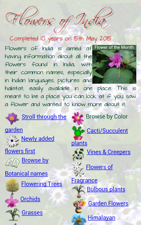 Flowers of India- screenshot
