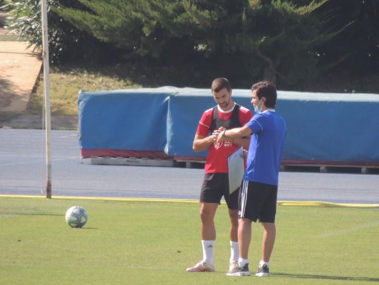 Mario Silva con Juan Muñoz.