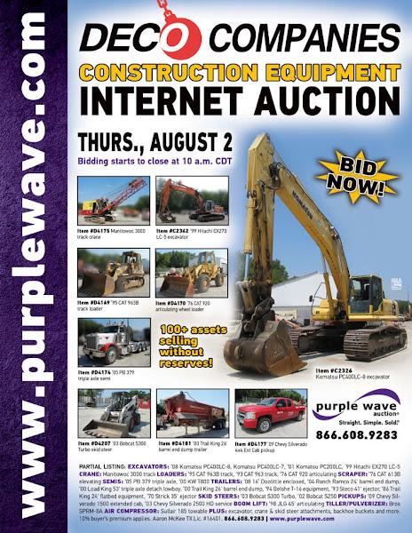 Photo: DECO Companies Construction Equipment Auction August 2, 2012 http://purplewave.co/120802